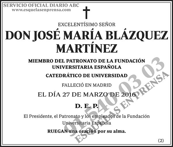 José María Blázquez Martínez